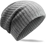 Grin&Bear extrem weiches 70% KASCHMIR unisex Beanie Mütze in Häkelstrickdesign M3