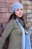 Damen 100% Kaschmir-Mütze Hut - 'Dunkelgrau' - Handgefertigt in Schottland - UVP €120 -