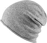 MSTRDS Unisex Cashmere Slouch Beanie ht. grey One Mütze mit 40% Kaschmir